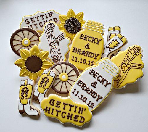 Western Bridal Shower Cookies