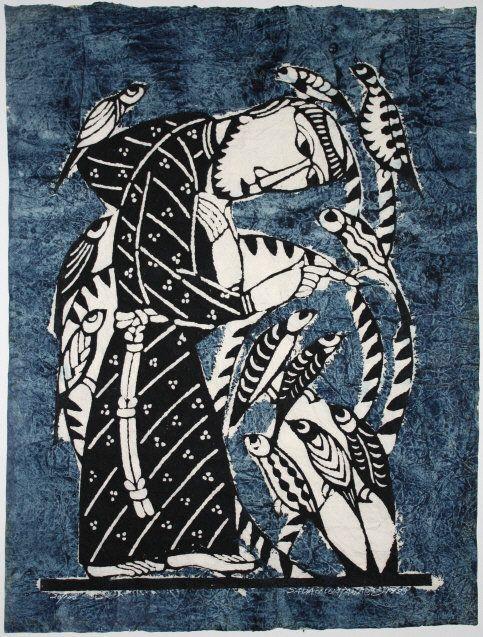 Sadao Watanabe (1913-1996), St. Francis. Japanese Kappa-ban Print