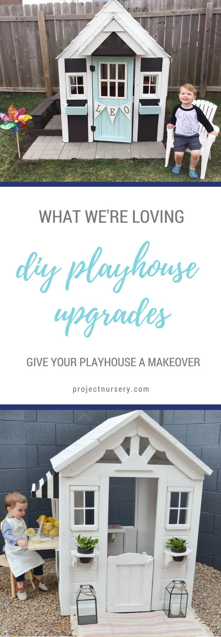These DIY playhouse upgrades are SUCH a hit right now! Come see some of our favorite playhouse transformations to get inspired...
