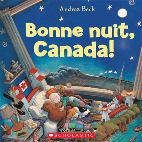 31997000946467 Bonne nuit, Canada !  Bonne nuit, Canada! présente un enfant à l'heure du dodo. Il vit en Nouvelle-Écosse près de la mer et s'interroge sur tous les autres petits du Canada et du monde entier. Il leur souhaite une bonne nuit, une province à la fois, un territoire à la fois et termine avec un chaleureux « bonne nuit » au pays qu'il aime.