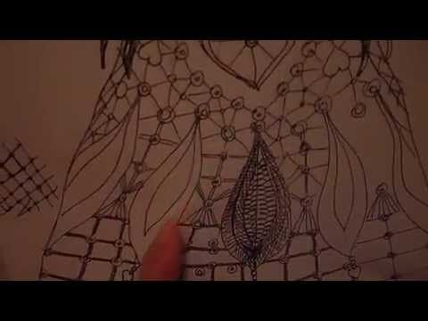 Wedding Dress part5 - Crocheting the cord and making the design
