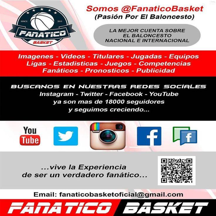 Somos @fanaticobasket la mejor cuenta en las Redes Sociales dedicada al Basketball Nacional e Internacional y a sus Fanáticos  #Siguenos #FanaticoBasket #Deporte #Baloncesto #Love #Pasion #Baloncesto #NBA #LPB #Venezuela #Nacional #Internacional #Cuenta #Venezolana #Somos #RedesSociales #Fanaticos #Basketball #Liga #Cancha #Estadistica #Resultados #Logros #Pronosticos #Parley #Publicidad #Promocion