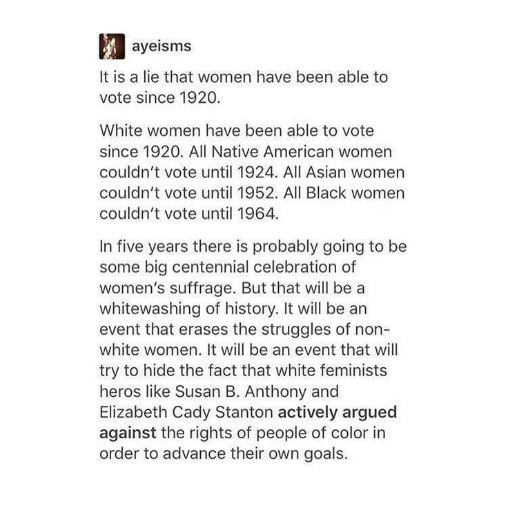 Truth!!! Advancements in American history was not to help the betterment of people of color. Everything they ever did that was supported by poc was to help them. Our communities were always a storyline for campaigns to get us for votes.