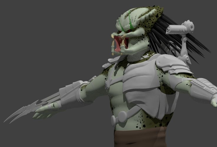Predator game character (WIP) by Pdog. Concept art by Ronnie Solano.