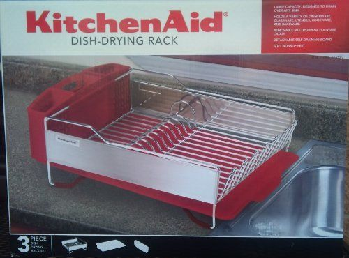 Dish drying rack by kitchenaid found at costco red dish drainer i have this and - Kitchenaid dish rack red ...