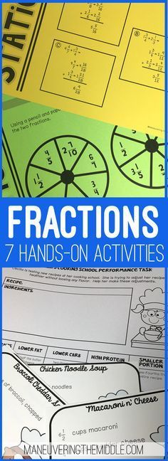 Fraction Operations Activity Bundle - adding, subtracting, multiplying ...