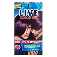 Schwarzkopf Live Xxl in Mystic Violet 87, this is the hair dye I use every time I need to dye my hair, as I have really thick hair I have to have 2 bottles!