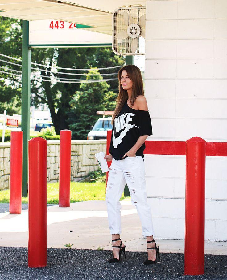 Nettenestea annette haga outfit nike topshop hvite boyfriend jeans antrekk roadtrip usa 2014 blogg mote