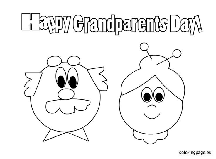 20 best grandparent 39 s day images on pinterest for Coloring pages for grandparents