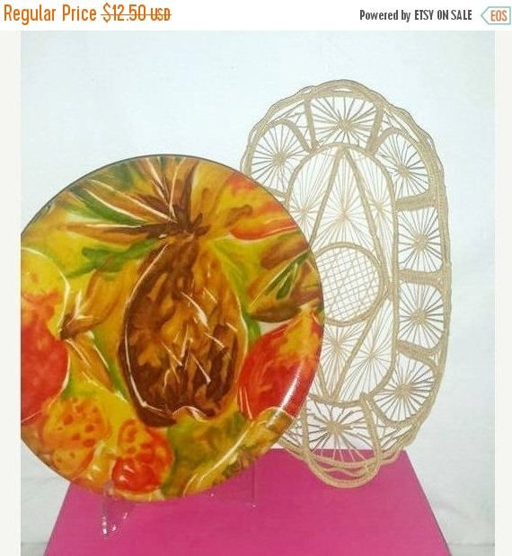 Vintage Pineapple Serving Tray,Fiberglass Platter,Fiberglass Tray,Serving Tray, Tropical Tray, Tropical Platter,MCM, Luau, Pineapple,1960s by JunkYardBlonde on Etsy