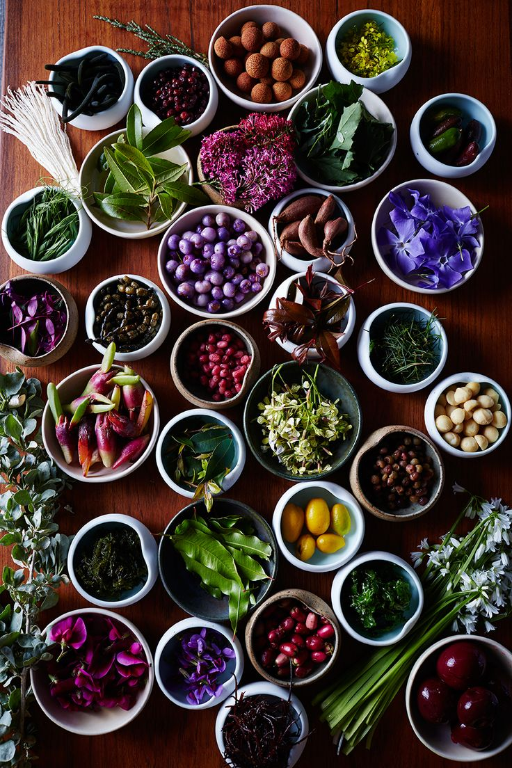 The mise en place at Jock Zonfrillo's restaurant, Orana, resembles a painter's palette of foraged herbs, flowers, leaves, and nuts. This is the cornerstone of Zonfrillo's new kind of Australian cuisine.