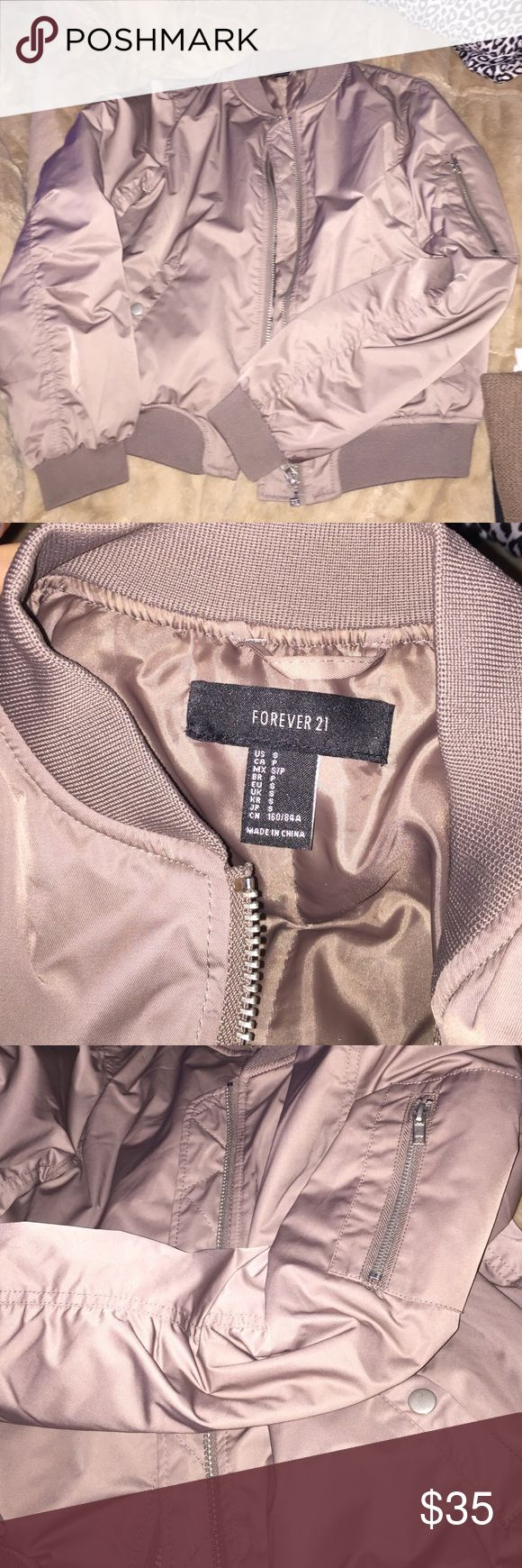 Forever21 tan combat jacket Forever21 tan combat jacket; size small. worn a handful of times, excellent condition. has pockets and a zipper on the arm as pictured. no trades Forever 21 Jackets & Coats