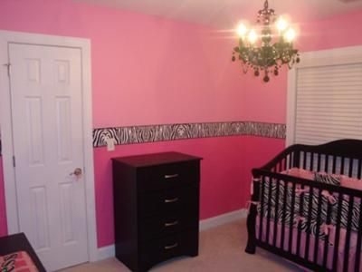 Nice Zebra Nursery: I Love Zebra Print Things And Found The Bedding At Carousel  Design And Went With That For Our Nursery! The Wall Border Is Zebra Print  That I ...