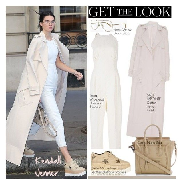 """Get the Look: Kendall Jenner"" by helenevlacho ❤ liked on Polyvore featuring Sally Lapointe, STELLA McCARTNEY, Emilia Wickstead, GetTheLook, StreetStyle, kendalljenner and CelebrityStyle"