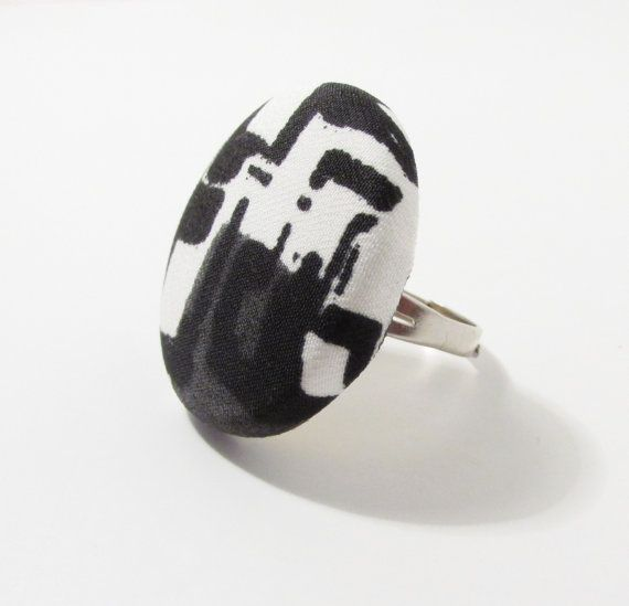 Check out this item in my Etsy shop https://www.etsy.com/listing/204188602/large-black-and-white-ring-black-and