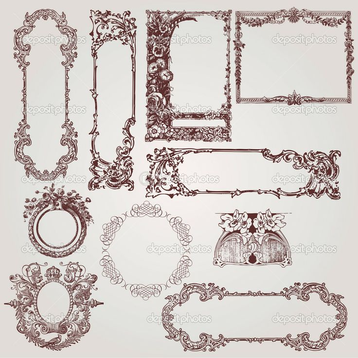 victorian picture frame | ... of beautiful antique victorian, baroque frames and design elements. borders.
