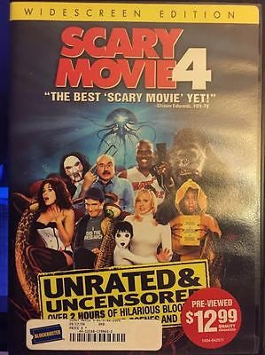 SCARY MOVIE 4 (DVD, 2006, Unrated Edition, Widescreen, Comedy, PG-13, 83 mins)