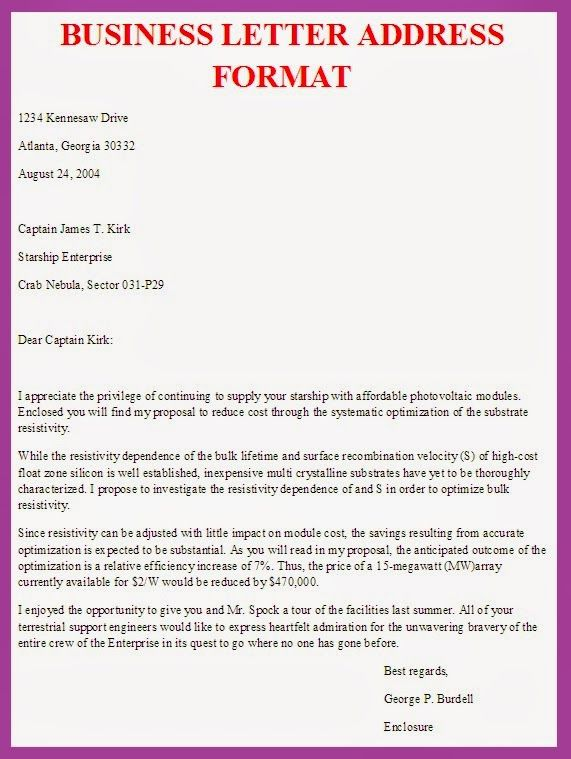 Format Of Business Letter template Business letter format
