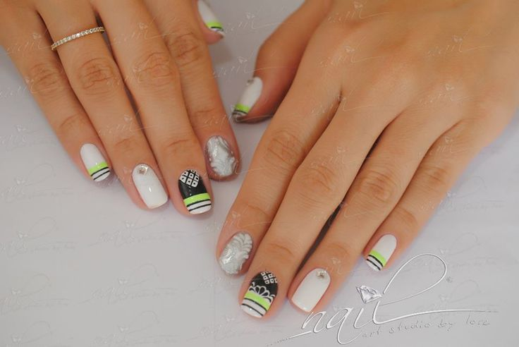 nails manicure  nail art design grey