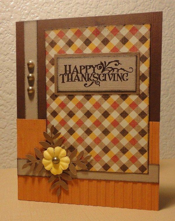 Marvelous Card Making Ideas Thanksgiving Part - 14: Thanksgiving Card - Scrapbook.com