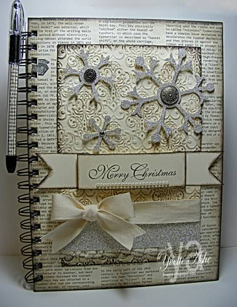 Altered Christmas Journal: Christmas Cardsvintag, Altered Christmas, Crafts Ideas, Papercraft Creative, Stampin Up, Altered Crafts, Paper Gardens, Paper Crafts, Merry Christmas Journals I