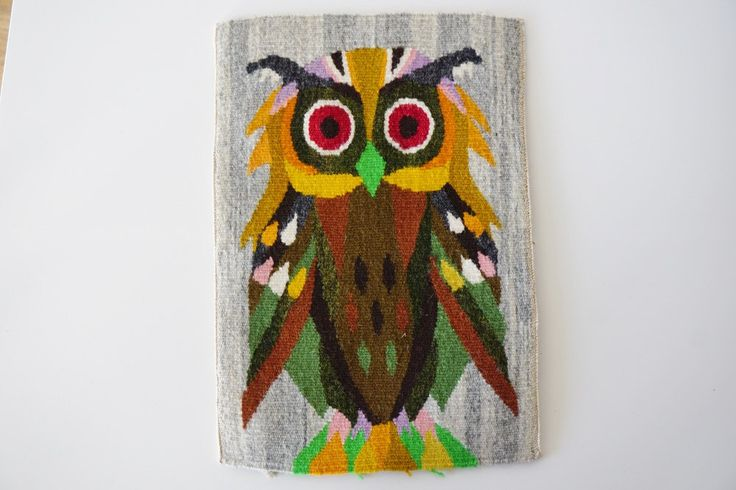 Flemish Wall Decor, Wall Tapestry, Home Decor, Home Décor Wall Art, Beautiful Owl flemish wall decoration, ready for frame by ScandicDiscovery on Etsy
