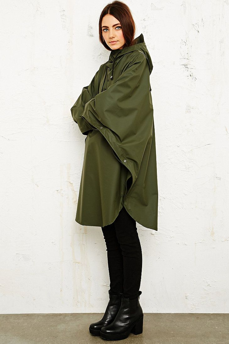 Rains Waterproof Poncho in Khaki                                                                                                                                                                                 More