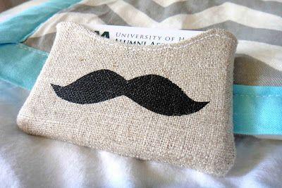Mustache Gift Card Holder template