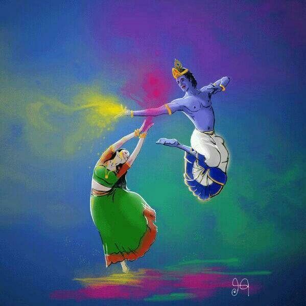 Radha Krishna. .  Holi hai