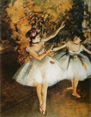 Edgar's most prolific was from 1873 to 1883, when he produced his famous paintings and pastels of the ballet, the racecourse, the music hall and cafe society