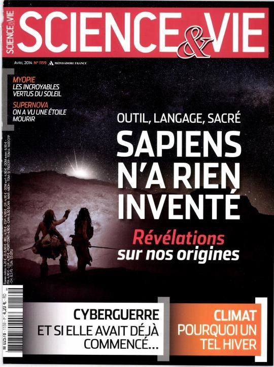 Science et vie n°1159 d'avril 2014.