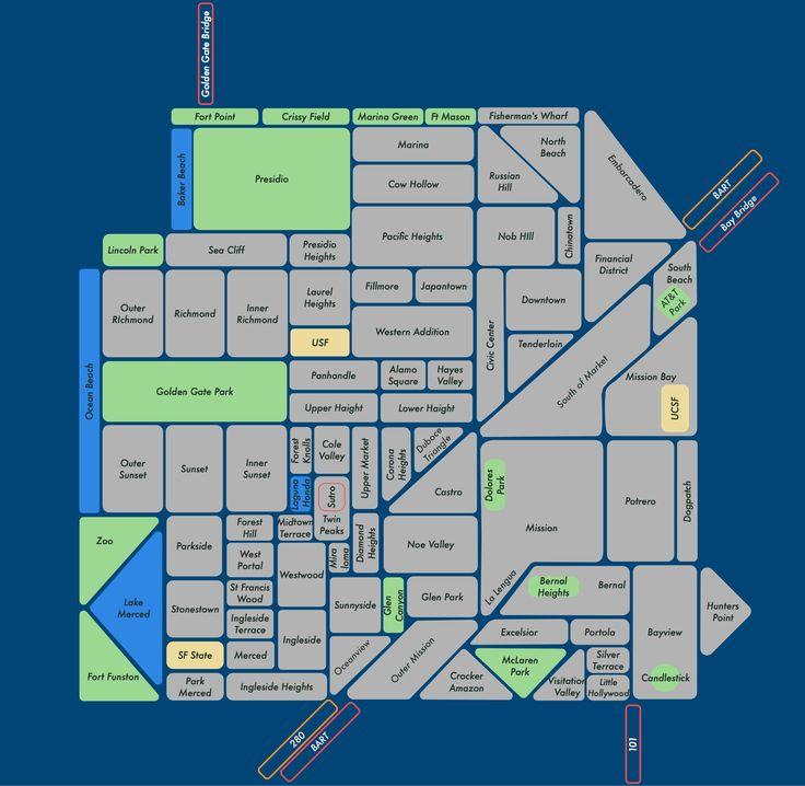 Very clever San Francisco neighborhood map!