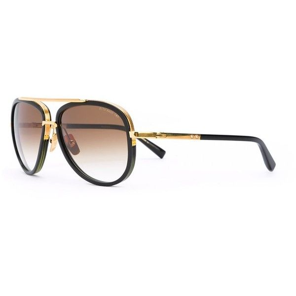 Dita Eyewear 'Mach Two' sunglasses ($1,100) ❤ liked on Polyvore featuring men's fashion, men's accessories, men's eyewear, men's sunglasses, mens black and gold sunglasses and dita mens sunglasses