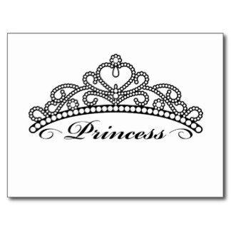 Pageant Crown Clip Art | Princess Crown Postcards