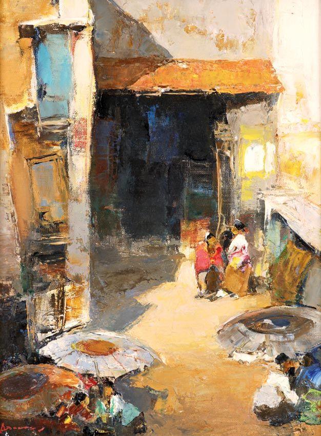 Gerard Pieter Adolfs (Semarang, 1899 – The Netherlands, 1968) - Pasar.