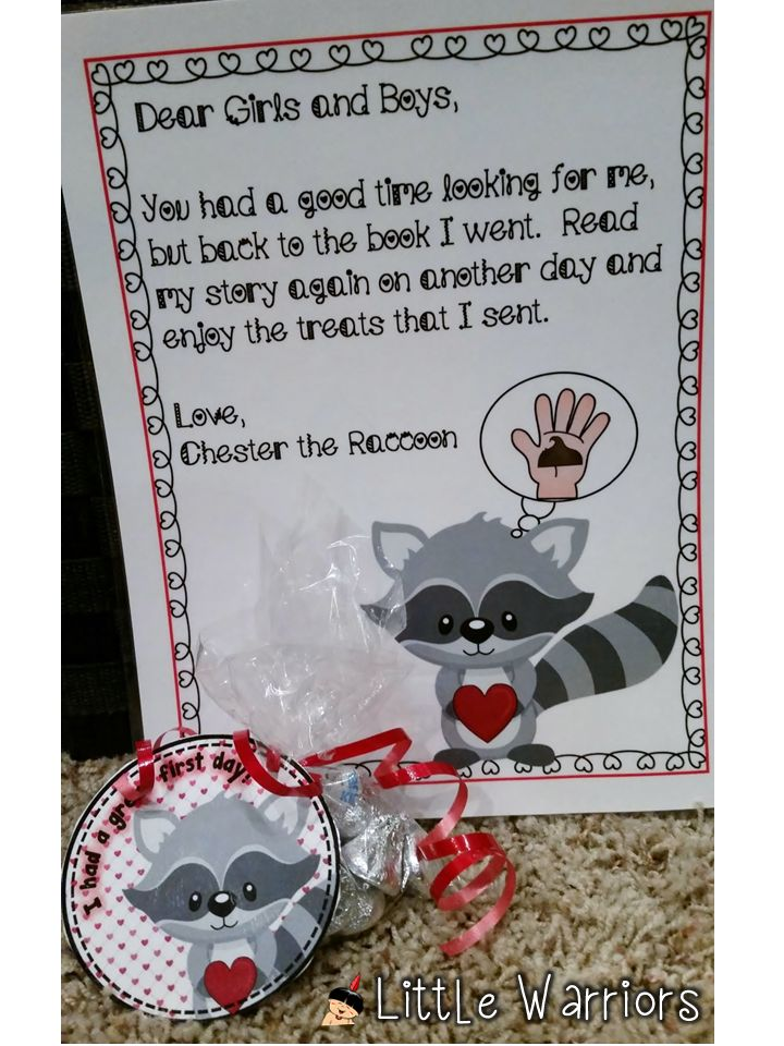 The Kissing Hand school tour and treat bag tags. So fun and cute for the first day of Kindergarten.