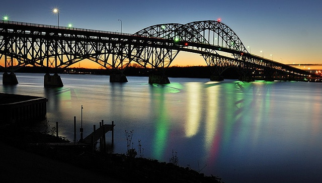 South Grand Island Bridge Before Sunrise  - Grand Island, NY;  photo by masinka (Daniel Novak), via Flickr