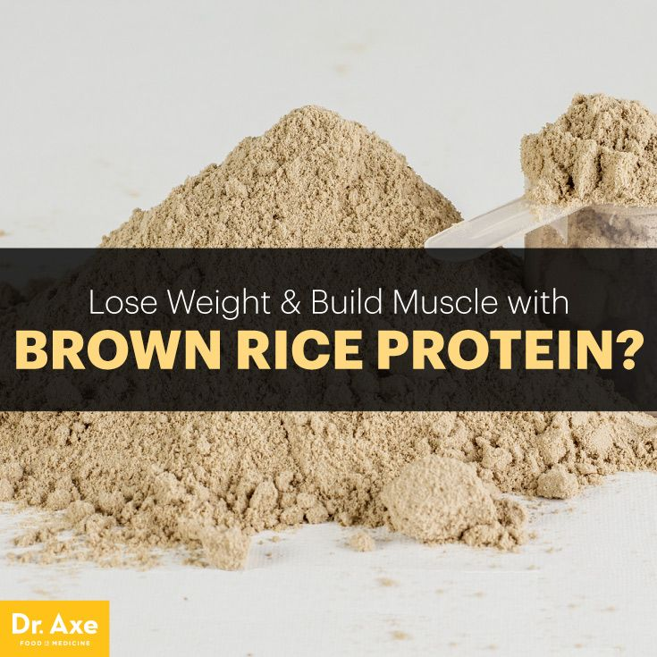 Brown rice protein powder - Dr. Axe http://www.draxe.com #health #holistic #natural