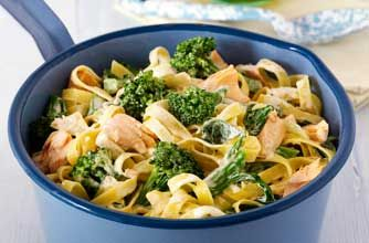 This superfood-packed fish pasta recipe is full of protein and contains a third of your recommended daily allowance of Vitamin C, so get it down the kids too.
