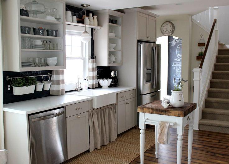 cabinets painted light gray: martha stewart sharkey gray. at