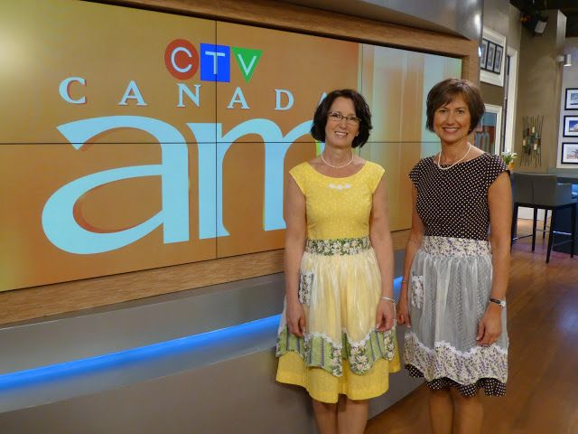 Lovella and Anneliese of Mennonite Girls Can Cook on Canada AM making their pies-in-a-jar....delicious!