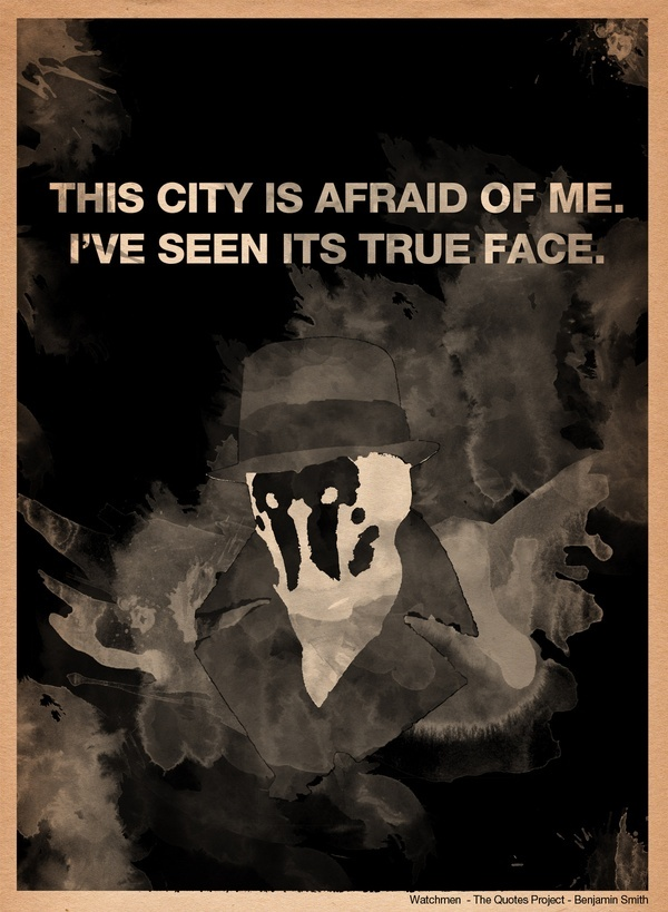 Rorschach from Watchmen Art Print by The Quotes Project