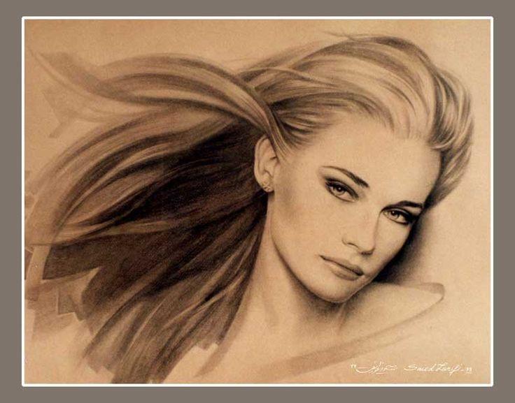portrat drawing - pencil