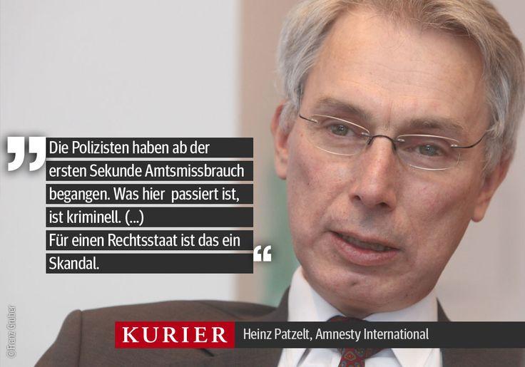 #Interview: Amnesty-Chef Heinz Patzelt über prügelnde Polizisten. Heute in Ihrer KURIER Abendausgabe. http://kurier.at/chronik/wien/patzelt-polizeigewalt-wie-im-diktatorischen-chile/119.042.948
