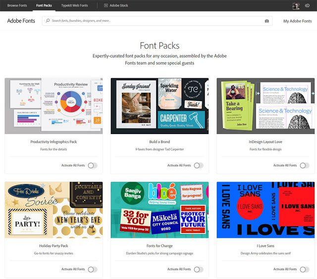 Download Font Packs on Adobe Fonts   Web font, Fonts