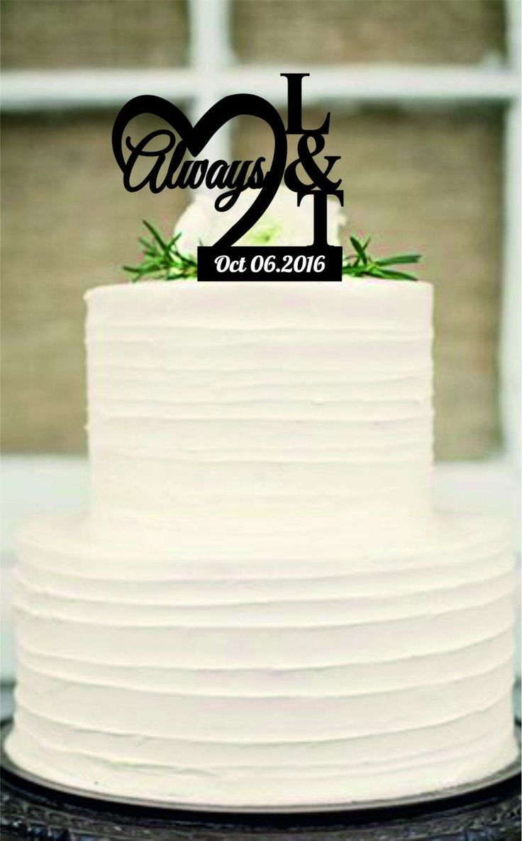 25 Best Ideas About Monogram Wedding Cakes On Pinterest