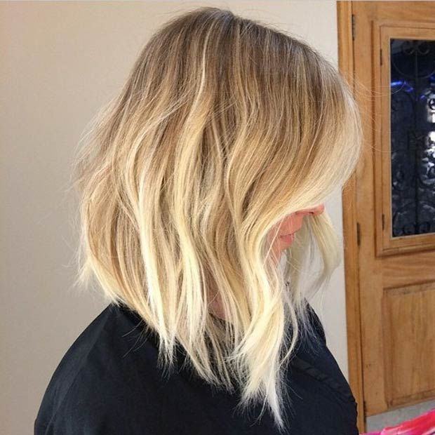 A-Line Blonde Sombre Long Bob (Lob):