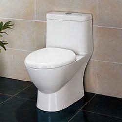 Ariel Platinum TB346M Contemporary Toilet with Dual Flush #Ariel #HomeRemodel #BathroomRemodel #BlondyBathHome #Toilets