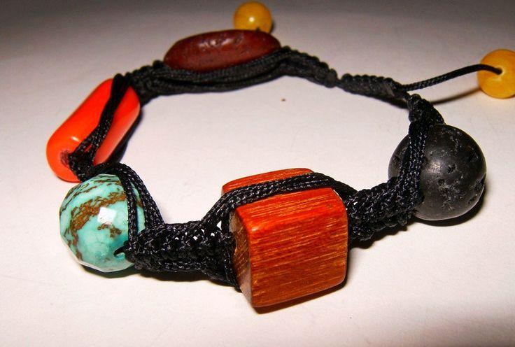 bransoletka kolorowa - Amber-Box - Bransoletki plecione