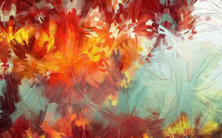 краски, Абстракция, кисть